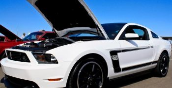 Boss 302 Vehicle With Hood Popped Open